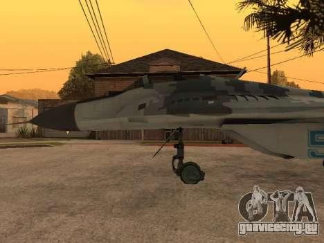 MIG-29 Armenian для GTA San Andreas вид сбоку