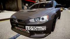 Mitsubishi Lancer Evolution X v1.0 для GTA 4