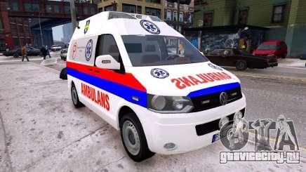 Volkswagen T5 Polish Ambulance для GTA 4