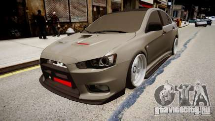 Mitsubishi Lancer Evolution X Stance для GTA 4