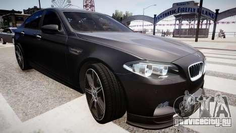 BMW M5 F10 Autovista для GTA 4 вид сзади слева