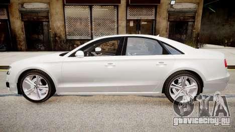 Audi S8 2013 для GTA 4 вид слева