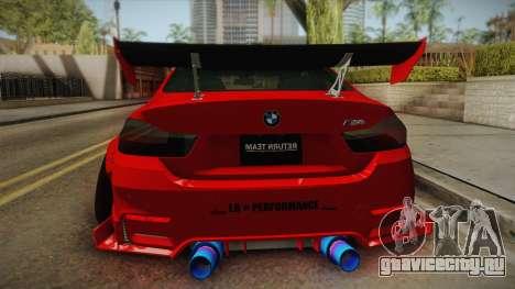 BMW M4 Liberty Walk для GTA San Andreas вид сзади