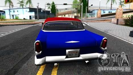 New car in style SA для GTA San Andreas вид сзади слева