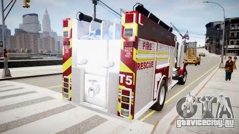 Новая пожарная машина T5 для GTA 4 вид сзади слева