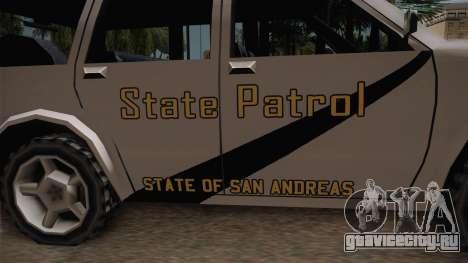 Dundreary Landstalker 1993 SA State Patrol для GTA San Andreas вид сзади