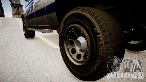 Declasse Police Ranger для GTA 4 вид сзади
