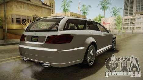 GTA 5 Benefactor Schafter Wagon для GTA San Andreas вид сзади слева