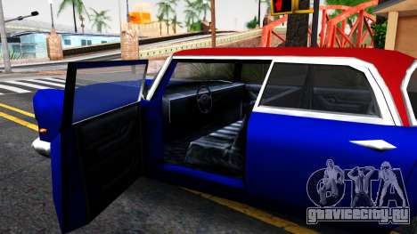 New car in style SA для GTA San Andreas вид изнутри