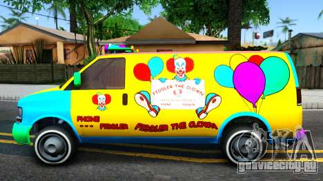GTA V Vapid Clown Van для GTA San Andreas вид слева