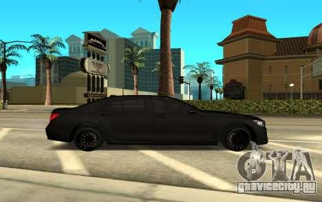 BMW 5 2017 для GTA San Andreas вид слева