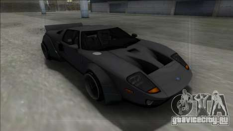 2005 Ford GT Rocket Bunny для GTA San Andreas вид сзади