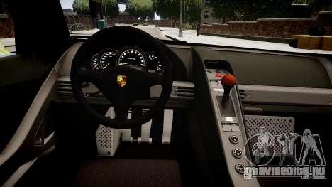 Porsche Carrera GT [EPM] для GTA 4 вид изнутри