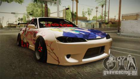Nissan Silvia S15 Rocket Bunny Itasha для GTA San Andreas вид справа