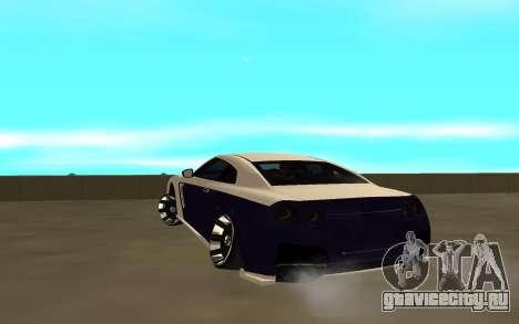 Nissan GTR для GTA San Andreas вид сзади слева