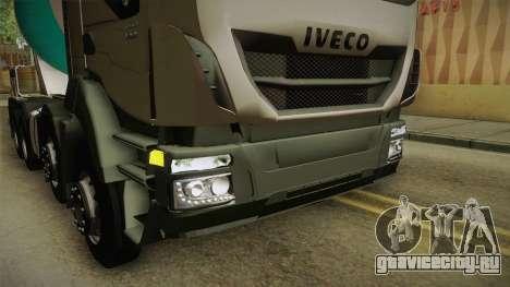 Iveco Trakker Hi-Land Cement Mixer 8x4 v3.0 для GTA San Andreas вид сверху