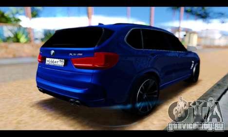BMW X5M для GTA San Andreas вид сзади слева