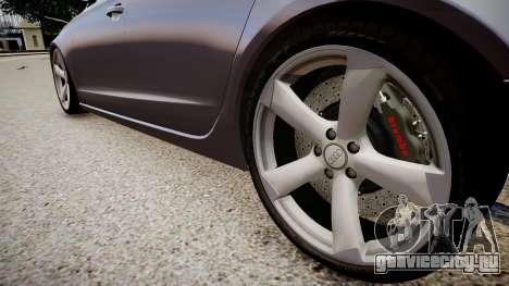 Audi A6 2012 Style для GTA 4 вид сзади