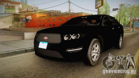 Vapid Interceptor 2013 Unmarked для GTA San Andreas