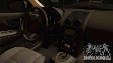 Nissan Qashqai для GTA San Andreas вид сбоку