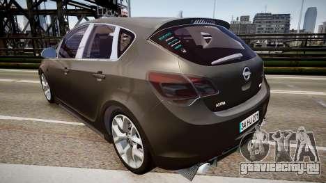 Opel Astra Senner для GTA 4 вид сзади слева