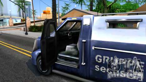 VC Security Car для GTA San Andreas вид изнутри