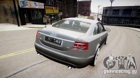 Audi A6 для GTA 4 вид сзади слева
