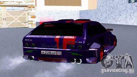 ВАЗ 2114 GTR SPORTS SLS для GTA San Andreas вид сзади слева