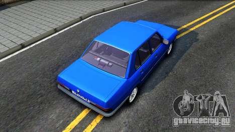 BMW E28 525e для GTA San Andreas вид сзади