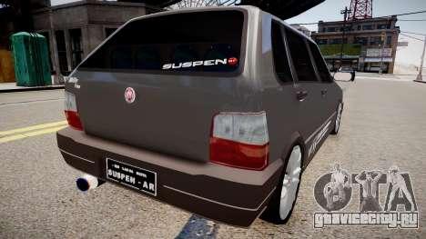 Fiat Uno Way 17 Fixa для GTA 4 вид сзади слева