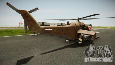 CoD Series - Mi-24D Hind Desert для GTA San Andreas вид слева