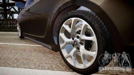 Opel Astra Senner для GTA 4 вид сзади