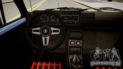 Volkswagen Golf GTI MK1 для GTA 4 вид изнутри