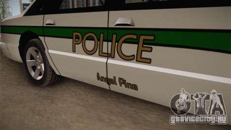 Declasse Premier 1993 Angel Pine Police для GTA San Andreas вид сзади