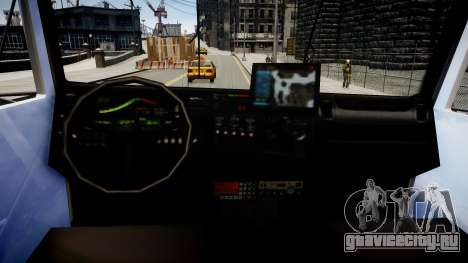 Новая пожарная машина T5 для GTA 4 вид изнутри