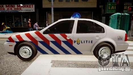 Volkswagen bora police для GTA 4 вид слева