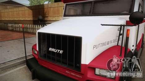 GTA 5 Brute Stockade IVF для GTA San Andreas вид сбоку