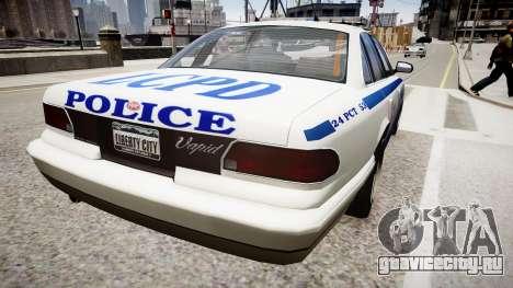 Police Cruiser [ELS] для GTA 4 вид слева