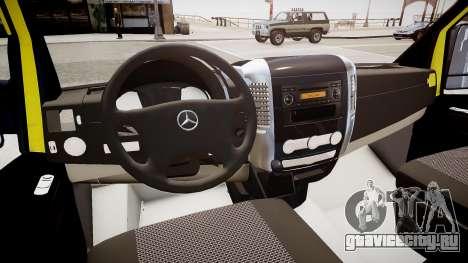 INEM Ambulance для GTA 4 вид изнутри