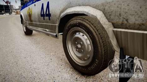 ВАЗ 2105 Полиция для GTA 4 вид сзади