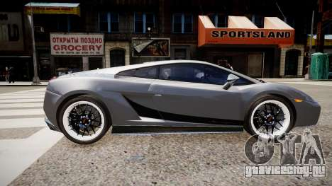 Lamborghini Gallardo Superleggera Custom 2007 для GTA 4 вид слева