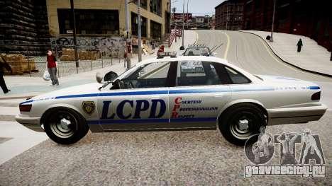 Police Cruiser [ELS] для GTA 4 вид сзади слева