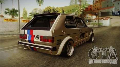 Volkswagen Golf Mk1 GTI для GTA San Andreas вид справа