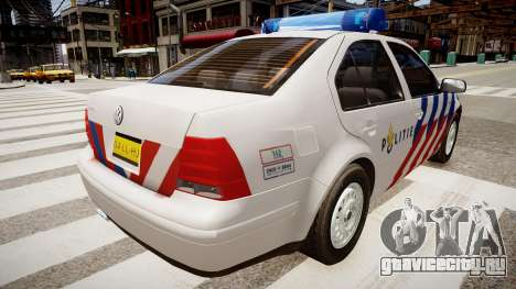 Volkswagen bora police для GTA 4 вид сзади слева