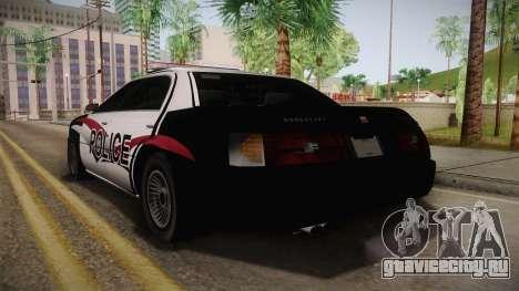 Dundreary Admiral Police 2009 для GTA San Andreas вид слева