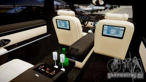 Maybach 62 S 2009 для GTA 4 вид изнутри
