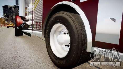 Новая пожарная машина T5 для GTA 4 вид сзади