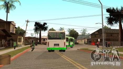 Прицеп к ЛиАЗ-6212 для GTA San Andreas вид сзади слева