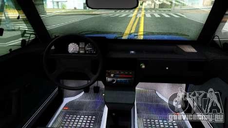 Volkswagen Gol GTI Troll Face для GTA San Andreas вид изнутри