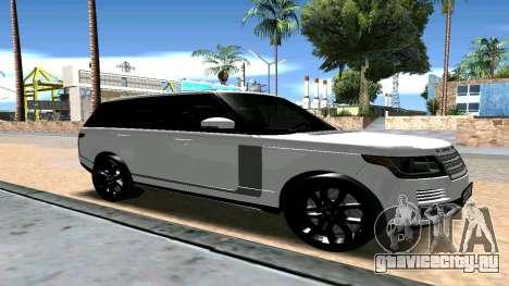 Range Rover для GTA San Andreas вид справа